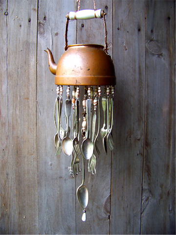 Happy Gardens - Old Utensil Wind Chime