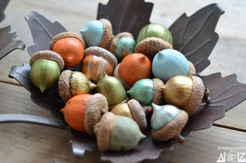 Happy Gardens - Painted Acorns