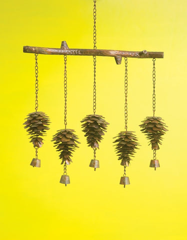 Happy Gardens - Pine Cone Wind Chime