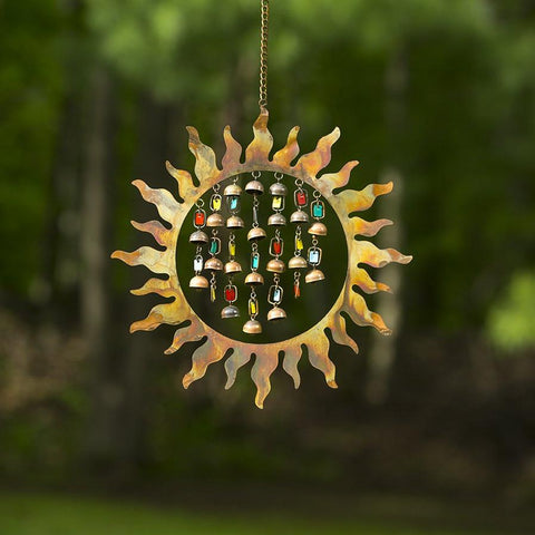 Happy Gardens - Sun with Dangles Wind Chime