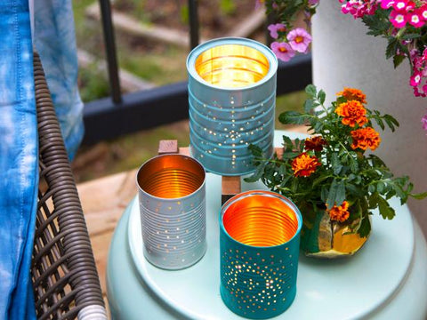 Happy Gardens - DIY Tin Can Lanterns