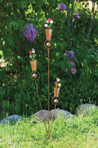 Happy Gardens - Triple Flower Pot Garden Stake