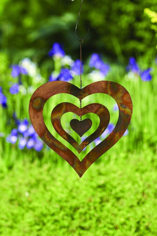 Happy Gardens - Triple Spinning Heart Ornament