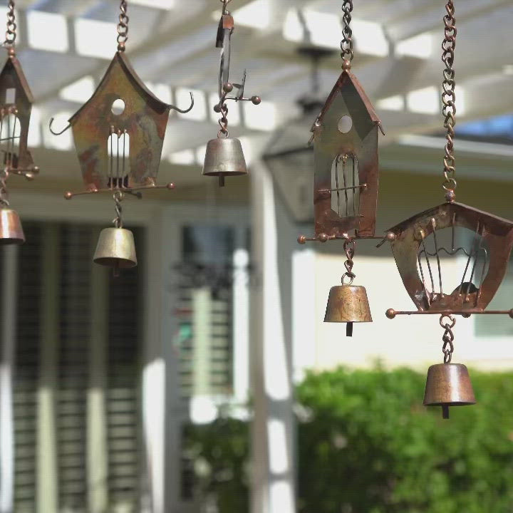 Happy Gardens - Bamboo Bird House Wind Chime