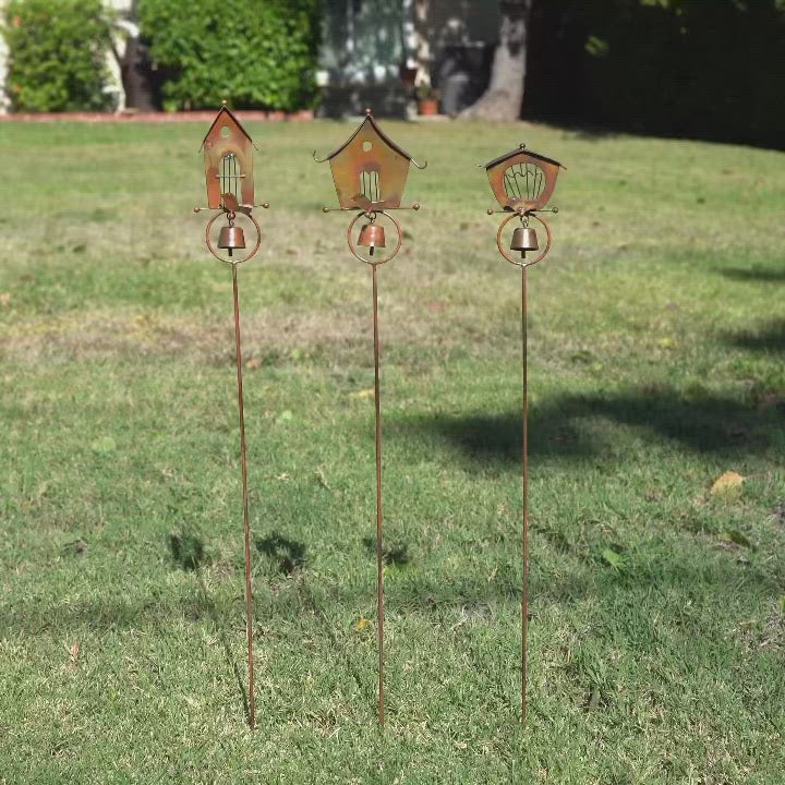 Happy Gardens - Bird Houses Garden Decor Stakes
