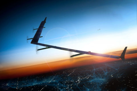 Facebook carbon fiber UAV for wifi transmission