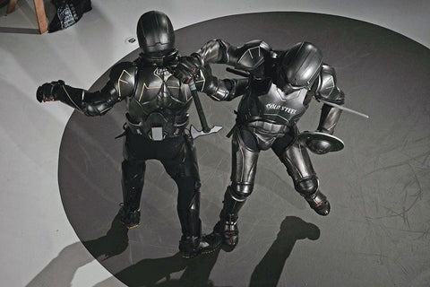 Unified weapons master carbon fiber gladiator suit