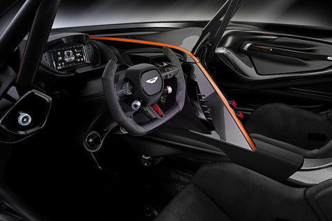 Aston Martin Vulcan carbon fiber steering wheel interior