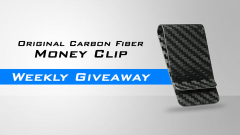 Carbon fiber money clip giveaway promotion