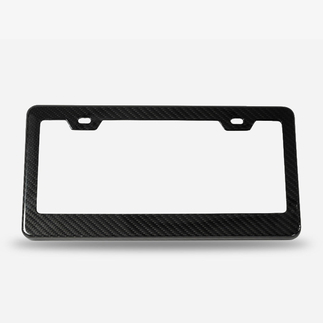 Twill weave carbon fiber license plate frame