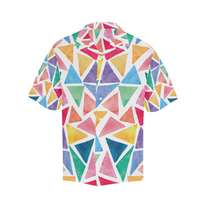 Watercolors Flowy Short Sleeve Button Down