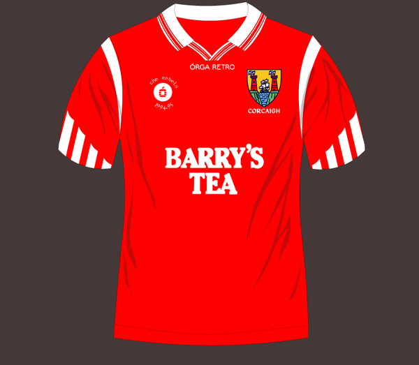 Cork Retro 'Barry's Tea' Jersey. 1994 and 95