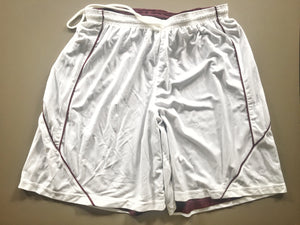 Shorts (maroon/white or black/white, reversible, knee-length)