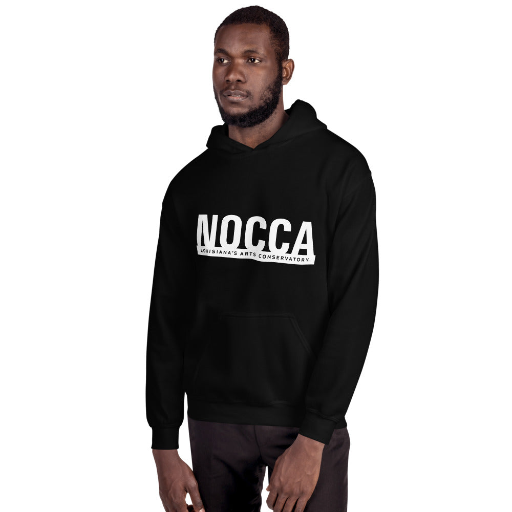 Unisex NOCCA hoodie (light on dark background)