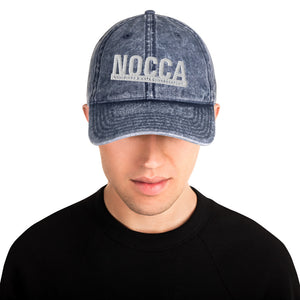 Vintage cotton twill cap with embroidered NOCCA logo