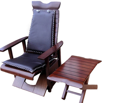 Susubribi Recliner Chair(Dark Brown Wash)