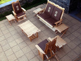 Susubribi Recliner Chair Set ( Natural Finish)
