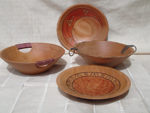 Wooden Plates with Pattern (enibre nso gya)