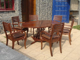 DINING SET - OVAL TEXTURED PATTERN