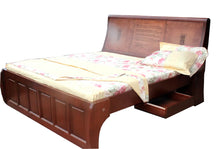 BED KING & QUEEN SIZE WITH ENGRAVED TEXT
