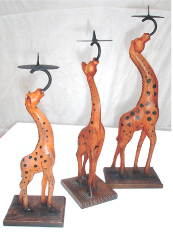 Home Accent Giraffe Candle Holder (3pc set)