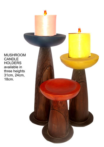 Mushroom Candle Holders (3pc set)