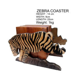 Zebra Coaster Holder
