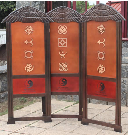 Customized Hut  Screen with Adinkra Symbols
