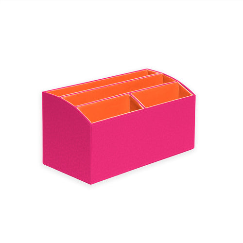 Desk Organizer- Fuchsia/Orange