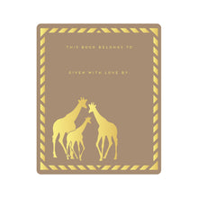 Safari Gold Foil Bookplates