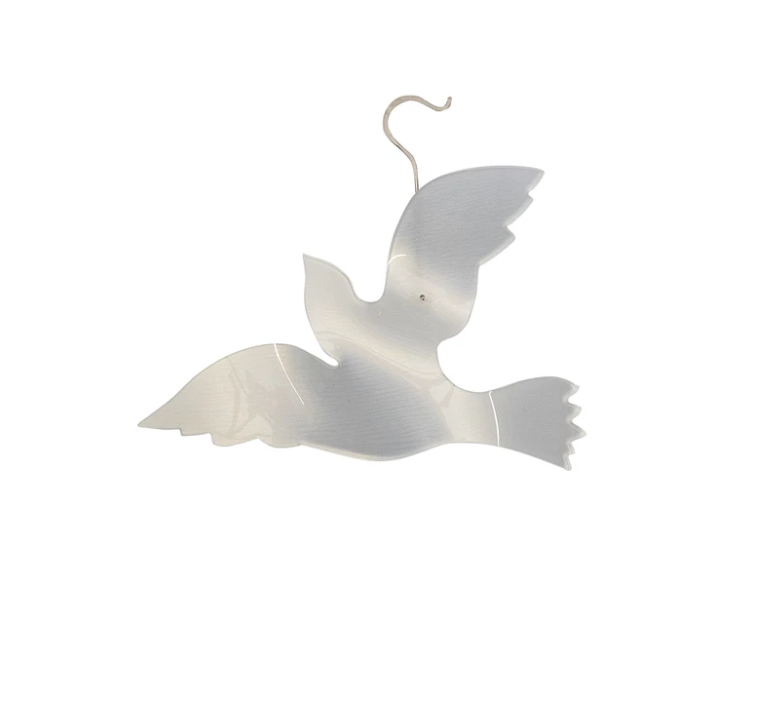 Acrylic Dove Christmas Ornament Extra Large
