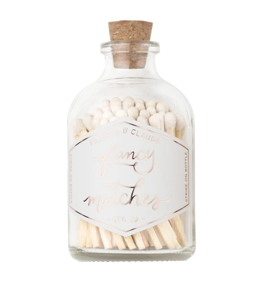 Fancy Matches™ Small White Match Jar