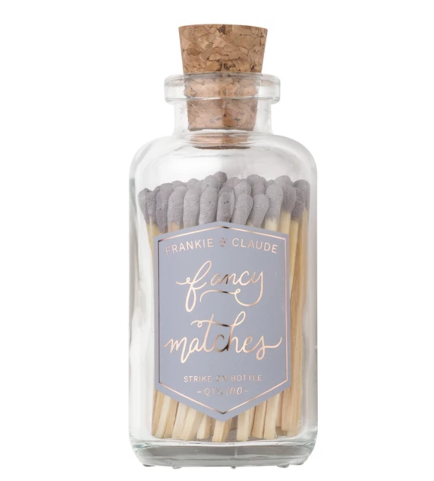 Fancy Matches™ Medium Lavender Gray Match Jar