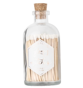 Fancy Matches™ Medium White Gray Match Jar