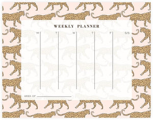 Clairebella Leopard Weekly Planner