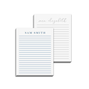 Custom printed note pads for men and women