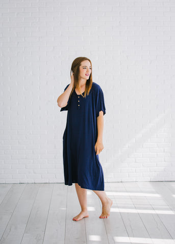 Navy Blue 24/7 Housedress
