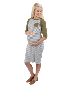 all variations baseball maternity nursing dress