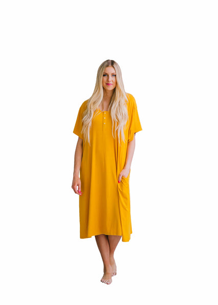 Mustard 24/7 House Dress from Undercover Mama - Clearance Sale
