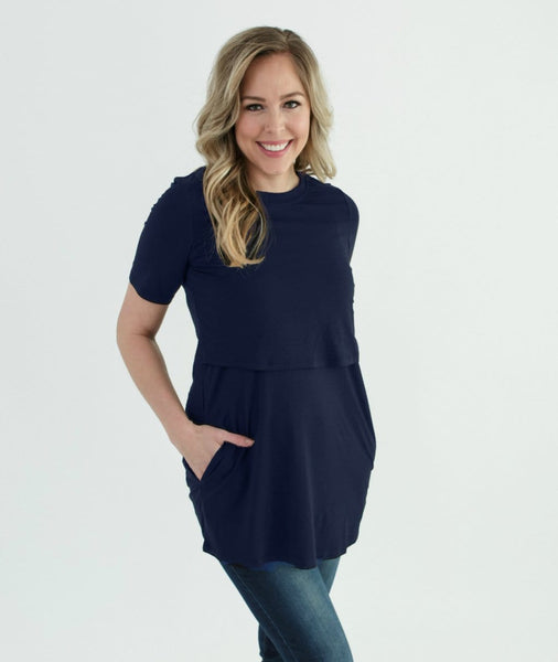 Navy Nursing Tee from Undercover Mama