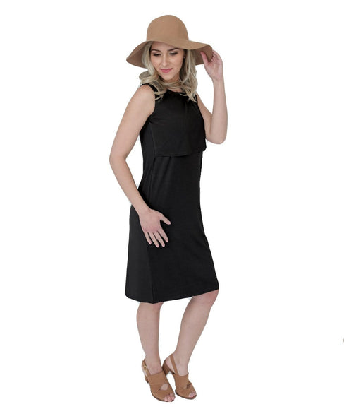 Undercover Mama Black Sleeveless Nursing Dress