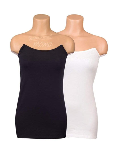 Black & White Strapless Nursing Tank Bundle from Undercover Mama