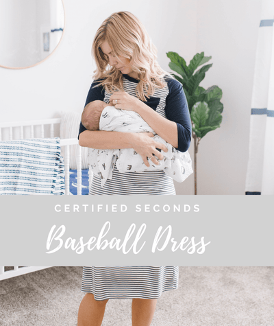 Seconds Baseball Nursing Dress - Final Sale