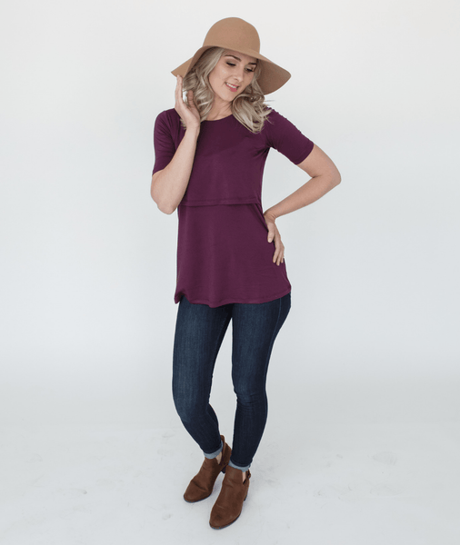plum nursing shirt