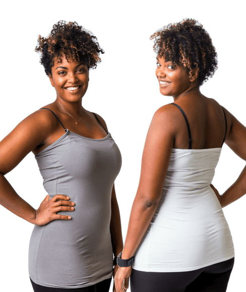 Gray & White Strapless Nursing Tank Bundle from Undercover Mama