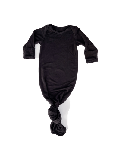 Black Knotted Baby Gown from Undercover Mama
