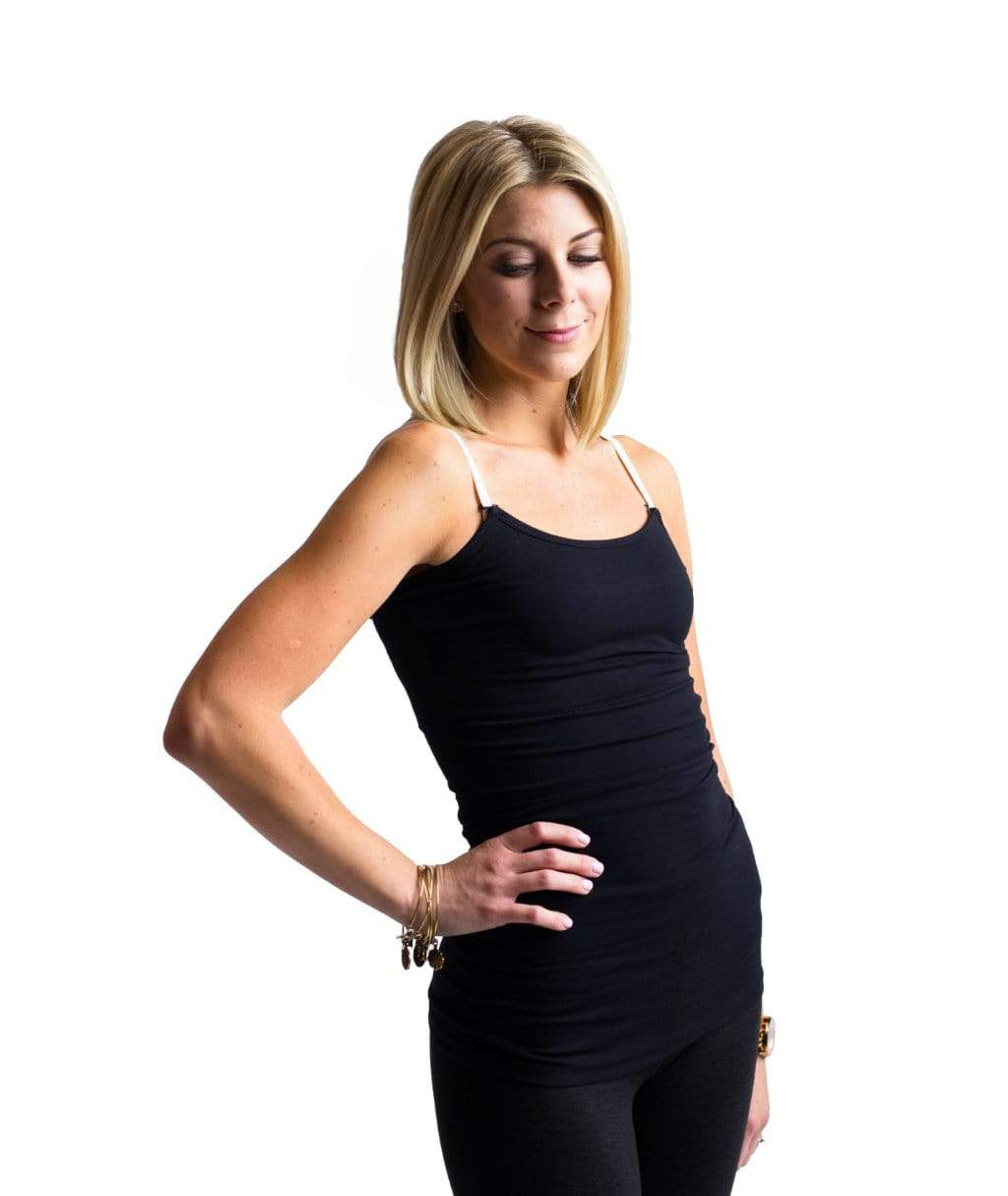 Undercover Mama Slimming Strapless Nursing Tank in Black