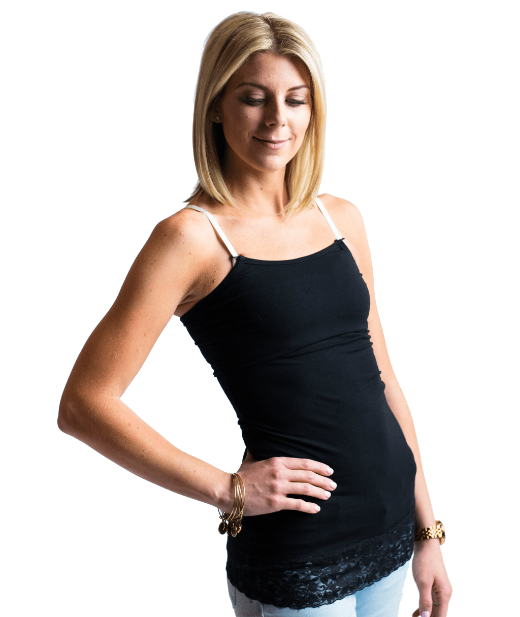 Lace Trim Nursing Tank