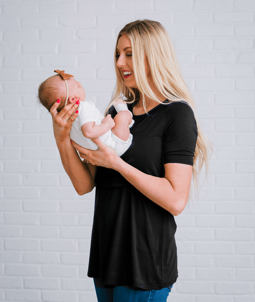 Black Nursing Shirt from Undercover Mama