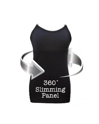 Undercover Mama Slimming Strapless Nursing Tank in Black with 360 degree slimming panel All Variations
